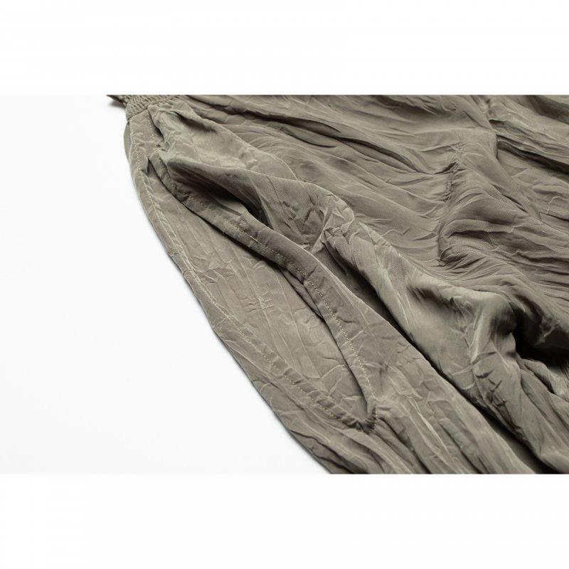 Open Sholder Wrinkle One-piece(Khaki)