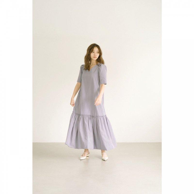 Back Ribbon Taffeta Maxi Dress(Beige)