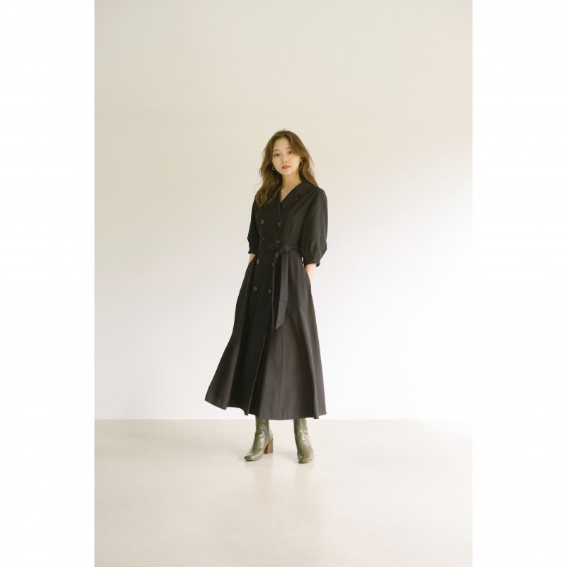 Trench Style One-piece(Navy)