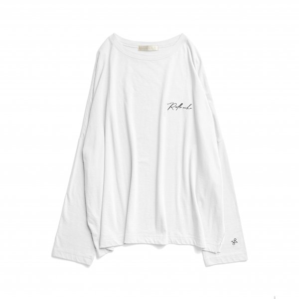 AMYER - Embroidery Logo Long Sleeve TEE(White)