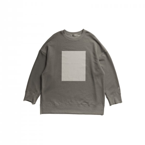 AMYER - Flocky Box Logo Print Sweat(Gray)