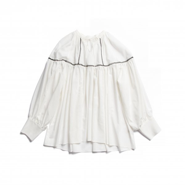AMYER - Bicolor Volume Gather Blouse