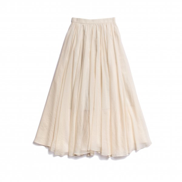 AMYER - Airy Flare Maxi Skirt(Ivory)