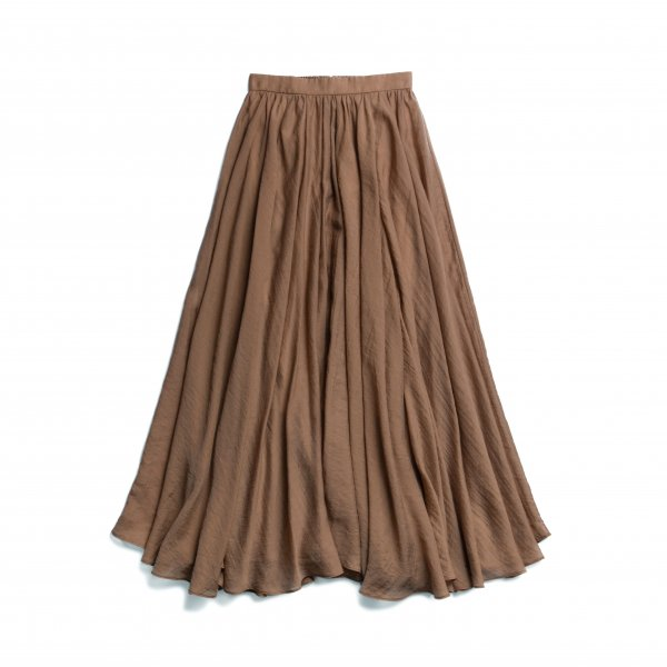 AMYER - Airy Flare Maxi Skirt(Brown)