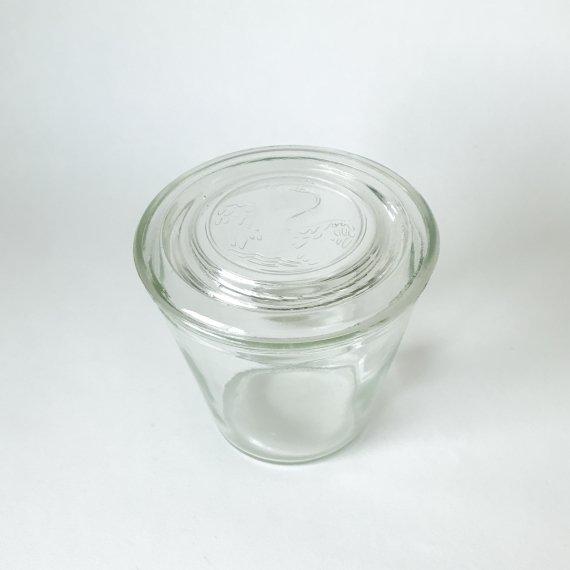 GLASS JAR SWAN-L