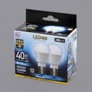 LED電球 E17 広配光 40形相当 (2個セット)<img class='new_mark_img2' src='https://img.shop-pro.jp/img/new/icons61.gif' style='border:none;display:inline;margin:0px;padding:0px;width:auto;' />