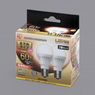 LED電球 口金直径17mm 60W形相当  全方向タイプ LDA7N-G-E17/W-6T5 (2個セット)<img class='new_mark_img2' src='https://img.shop-pro.jp/img/new/icons61.gif' style='border:none;display:inline;margin:0px;padding:0px;width:auto;' />