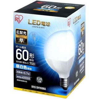 LEDボール球 口金直径26mm 60W形相当 広配光タイプ 密閉器具対応<img class='new_mark_img2' src='https://img.shop-pro.jp/img/new/icons61.gif' style='border:none;display:inline;margin:0px;padding:0px;width:auto;' />