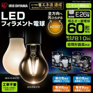 LEDフィラメント電球<img class='new_mark_img2' src='https://img.shop-pro.jp/img/new/icons61.gif' style='border:none;display:inline;margin:0px;padding:0px;width:auto;' />
