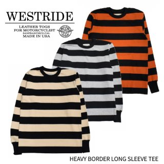 【WEST RIDE/ウエストライド】ロングスリーブ/HEAVY BORDER LONG SLEEVE TEE/ブラック×クリーム