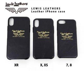 【Lewis Leathers/ルイスレザーズ】レザーアイフォンケース XR, X/XS, 7/8 用