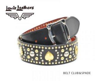 【Lewis Leathers/ルイスレザーズ】 スタッズベルト  BELT CLUB&SPADE