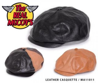 【The REAL McCOY'S】MA11011:LEATHER CASQUETTE