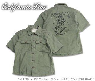 【CALIFORNIA LINE/カリフォルニアライン】半袖シャツ /ファティーグ ショートスリーブシャツ