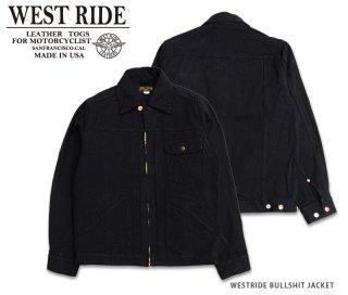 【WESTRIDE/ウエストライド】デニムジャケット/ BULLSHIT JACKET BLK