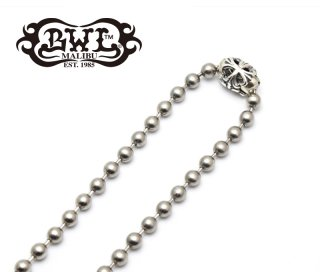 【Bill Wall Leather/ビルウォールレザー】ネックレスチェーン/N863ST:Large Ball Chain 6mm Stainless