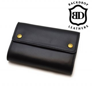 【BACKDROP Leathers / バックドロップ・レザーズ】ウォレット/MIDDLE BILL WALLET (Short)
