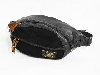 【Vin&Age/ヴィンアンドエイジ】ウエストバッグ/LEATHER WAIST BAG :TYPE VBG4A(ブラック)