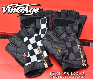 【Vin&Age ヴィンアンドエイジ】フィンガレスグローブ TYPE VG15S-A