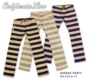 【CALIFORNIA LINE/カリフォルニアライン】パンツ/BORDER PANTS タイトストレート CLP19-001