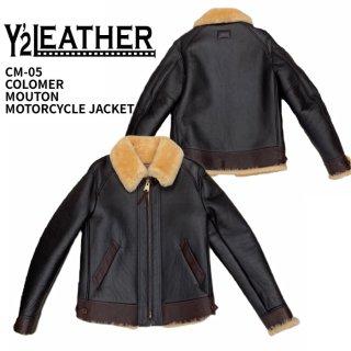 【Y'2 LEATHER/ワイツーレザー】レザージャケット/ CM-05 COLOMER MOUTON MOTORCYCLE JACKET