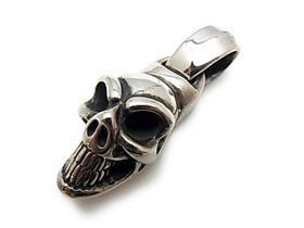 【Bill Wall Leather/ビルウォールレザー】ペンダント/PN852:Large Good Luck Skull Pendant