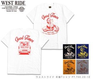 【WEST RIDE/ウエストライド】Tシャツ/PT.TEE20-10