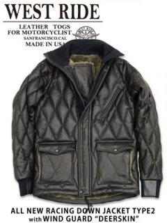 【WEST RIDE/ウエストライド】レザージャケット/ALL NEW RACING DOWN JACKET TYPE2