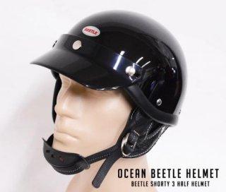 【OCEAN BEETLEオーシャンビートル】ヘルメット/BEETLE SHORTY 3 HALF HELMET★送料サービス対象外