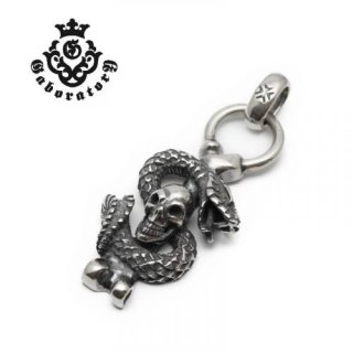 【Gaboratory/ガボラトリー・ガボール】ペンダント/SKULL ON SNAKE PENDANT *Limited edition