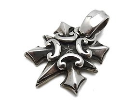 【Bill Wall Leather/ビルウォールレザー】ペンダント/PN900:Cross Dagger Pendant