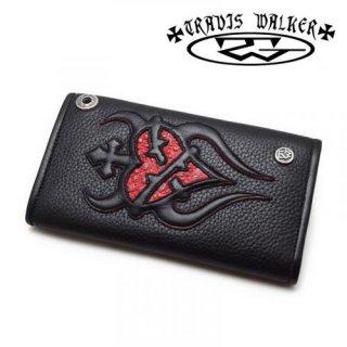 【TRAVIS WALKER/トラヴィスワーカー】ウォレット/4W01-08:Large3-Fold-Sacred Heart Wallet
