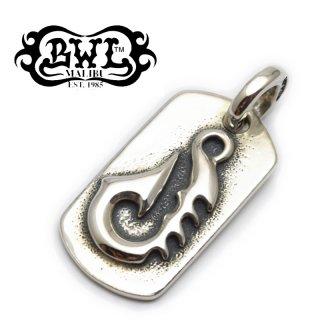 【Bill Wall Leather/ビルウォールレザー】ドッグタグ/DT605:Raised Fish Hook Dog Tag