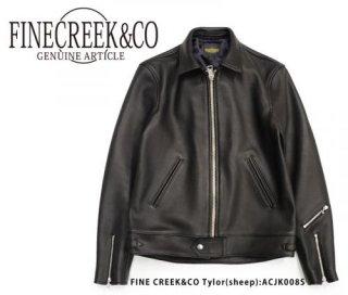 【FINE CREEK & co /ファインクリークアンドコー】レザージャケット/Tylor(sheep):ACJK008S