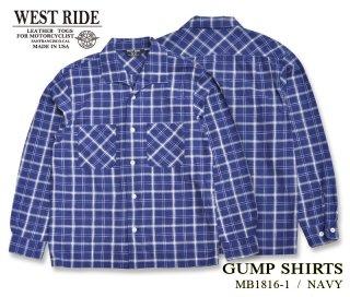 【WESTRIDE/ウエストライド】長袖シャツ/ GUMP SHIRTS NAVY