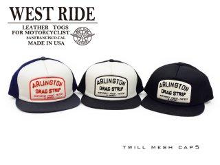 【WESTRIDE/ウエストライド】キャップ/ TWILL MESH CAP 5