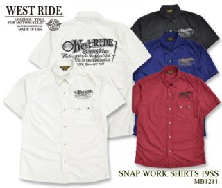【WESTRIDE/ウエストライド】SNAP WORK SHIRTS 19SS MB1211