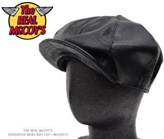 【The REAL McCOY'S】HORSEHIDE NEWS BOY CAP / MA20013