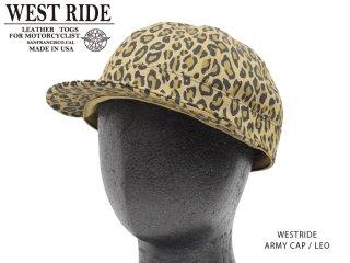 【WESTRIDE/ウエストライド】キャップ/ ARMY CAP LEO