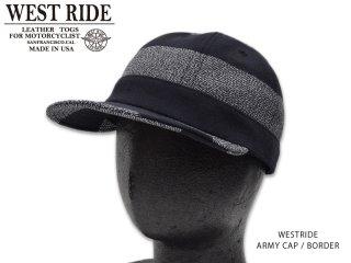 【WESTRIDE/ウエストライド】キャップ/ ARMY CAP BORDER
