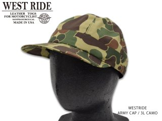 【WESTRIDE/ウエストライド】キャップ/ ARMY CAP 3L CAMO