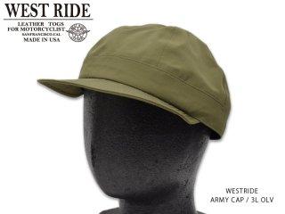 【WESTRIDE/ウエストライド】キャップ/ ARMY CAP 3L OLV