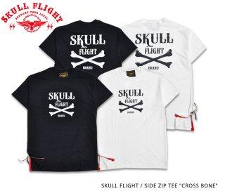 【SKULL FLIGHT/スカルフライト】Tシャツ /SIDE ZIP TEE
