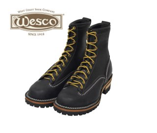 【Wesco/ウエスコ】ブーツ / JOB MASTER:Lace To Toe :ブラック 8ハイト #100ソール