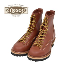 【Wesco/ウエスコ】ブーツ / JOB MASTER:Lace To Toe :レッドウッド 8ハイト #100ソール