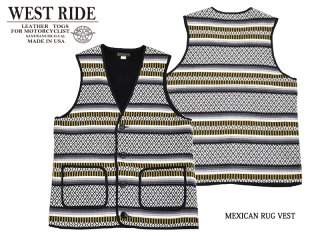 【WESTRIDE/ウエストライド】ベスト/MEXICAN RUG VEST:MB1726