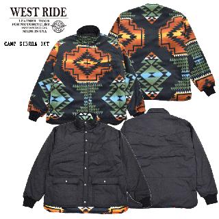 【WESTRIDE/ウエストライド】ジャケット/20FW CAMP SIERRA JKT BLK