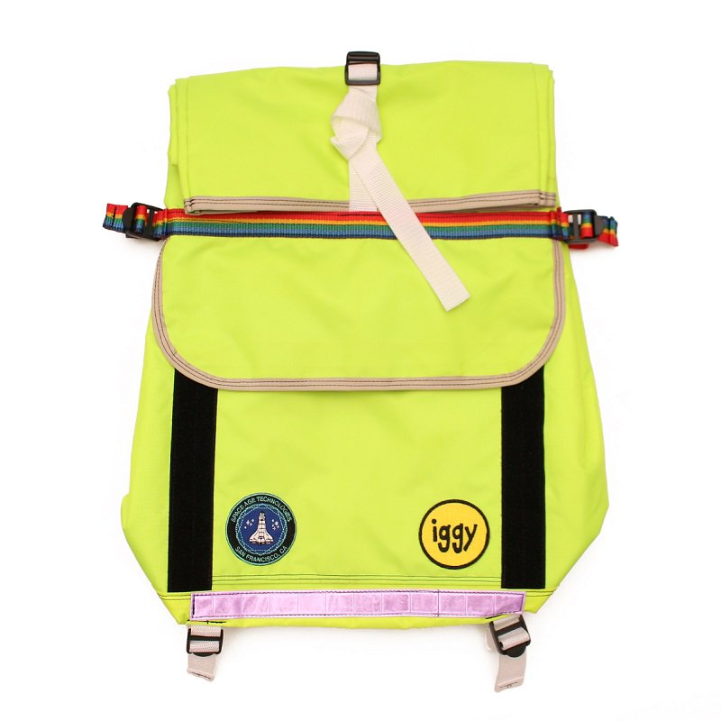 FLURO YELLOW ROLL TOP BACKPACK