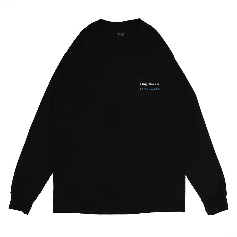 POCKET LOGO LONG SLEEVE TEE 【BLACK】