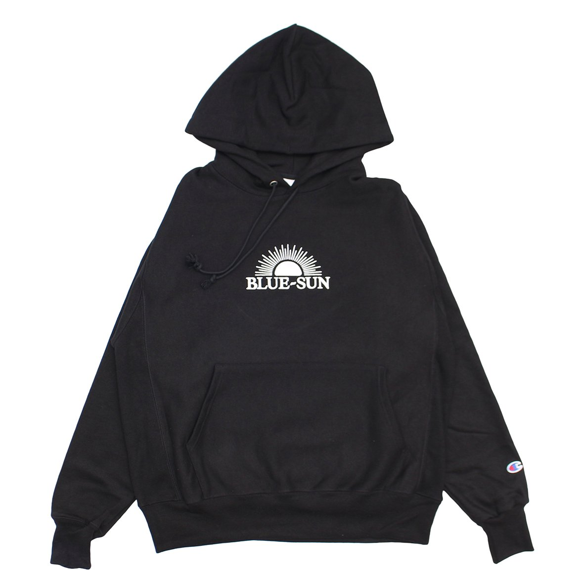 LOGO HOODED SWEATSHIRT 【BLACK】